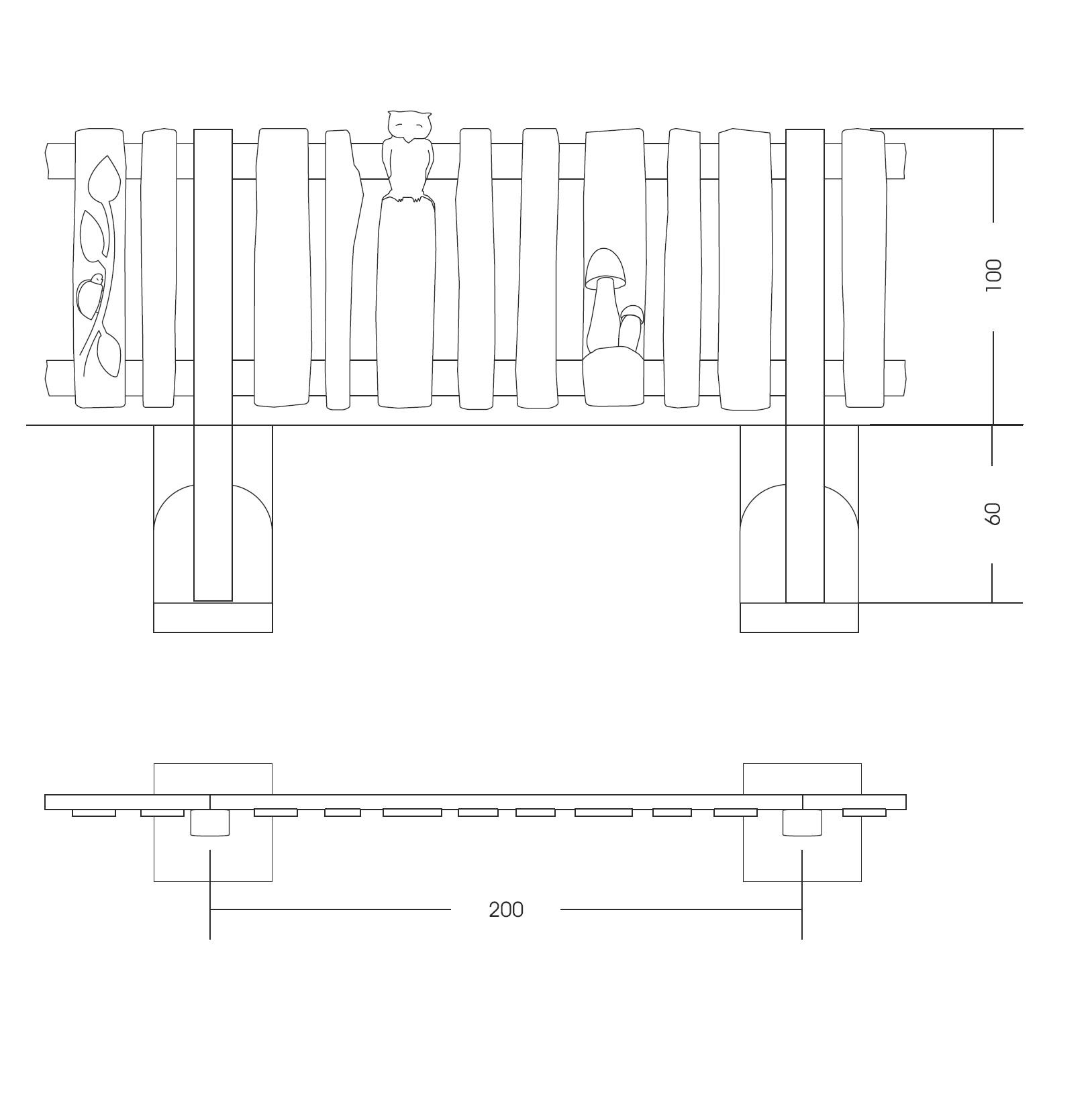 28 recinzioni e staccionate staccionata artistica for Staccionata dwg